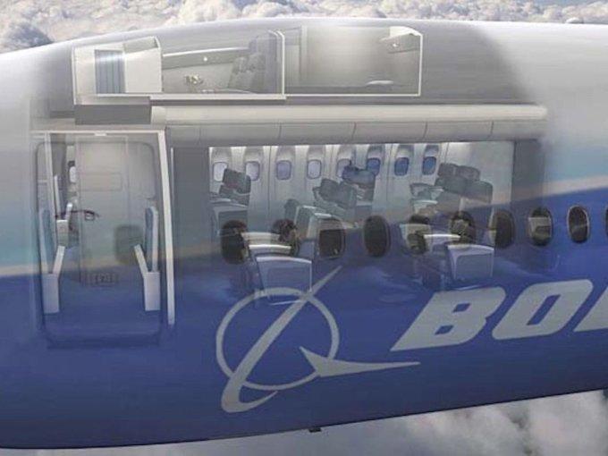 <p> Thông thường, phòng nghỉ bí mật ẩn sau buồng lái và phía trên khoang khách hạng thương gia, giống như chiếc Boeing 777 này. Ảnh: <em>Pursuitist</em>.</p>