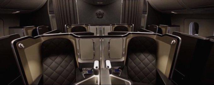 """<p class=""""Normal""""> Xếp thứ 10 là khoang thương gia của British Airways với tivi 23 inch và màn hình cảm ứng điều khiển từ xa đặt bên thành ghế. Ảnh: <em>British Airways.</em></p>"""