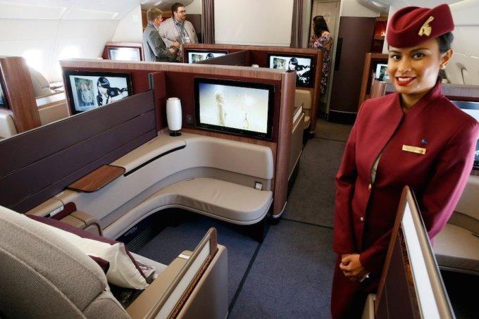 <p> Hạng thương gia của Qatar Airway có giá 5.000 USD/chiều. Ảnh: <em>Qatar Airway. </em></p>