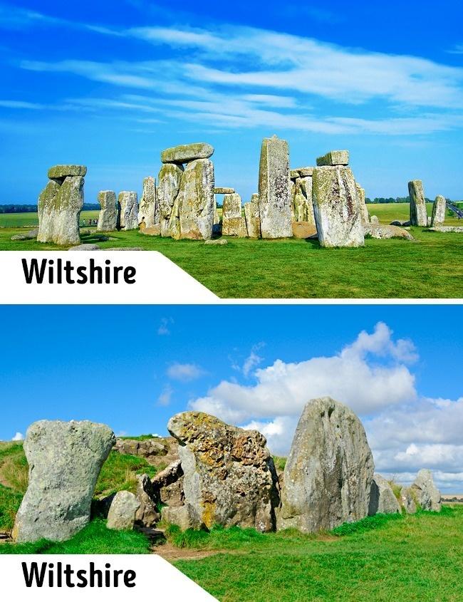 <p> Nhắc đến nước Anh không thể bỏ qua công trình lịch sử Stonehenge. Tại đây du khách không được chạm, không bước vào bên trong và khi gặp mưa thì không có nơi trú ẩn. Phí vào tham quan Stonehenge cũng không phải rẻ (9 - 15 bảng Anh, khoảng 270.000 - 460.000 đồng). Trong khi cách đó khoảng 30 km cũng thuộc hạt Wiltshire, du khách có thể tìm thấy một công trình tương tự và cũng rất ấn tượng. Hơn nữa, du khách được tham quan miễn phí những tảng đá ở Avebury.</p>