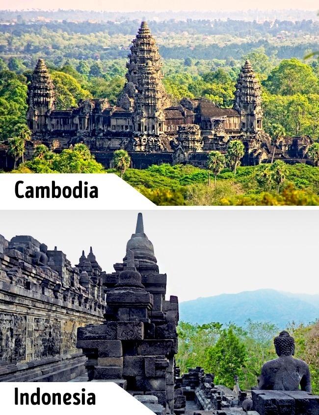 <p> Trước đây Angkor Wat là một khu đền Phật giáo bí ẩn ít người biết tới, thì vài năm gần đây đã rất nổi tiếng. Du khách từ khắp nơi trên thế giới đổ tới để chiêm ngưỡng kiến trúc cổ hàng ngày. Tuy nhiên đến với đền Borobudur ở Indonesia, du khách sẽ không gặp cảnh vừa len lỏi giữa dòng người vừa tham quan.</p>