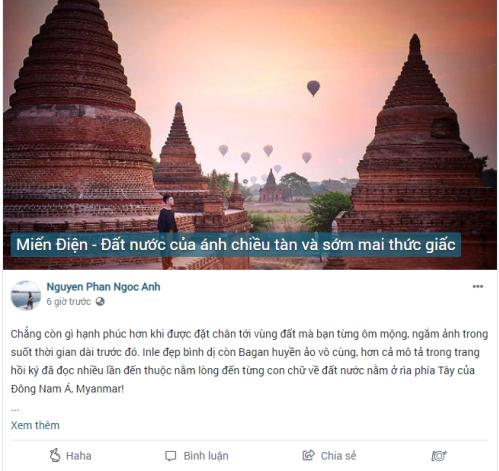 Người dùng Nguyen Phan Ngoc Anh chia sẻ trải nghiệm ở Myanmar.