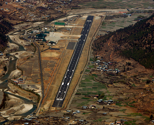 The airport did not have enough qualified pilots to land in Bhutan