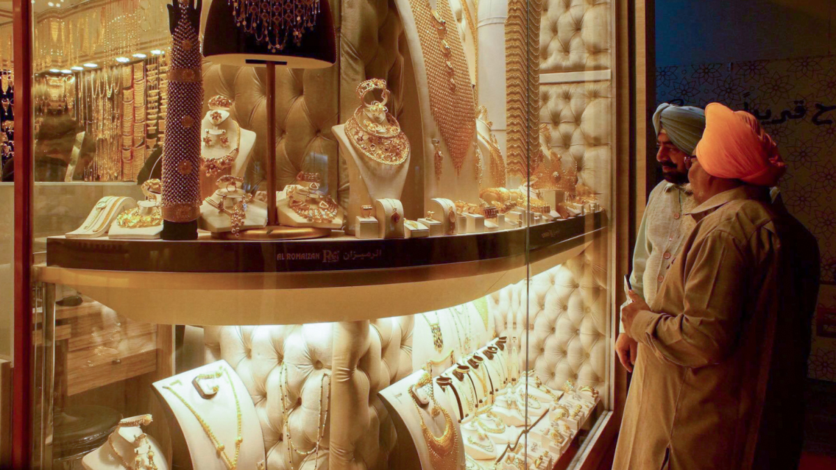 The market displays tons of gold in Dubai