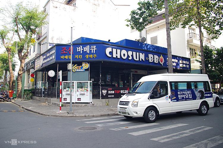 Khu phố Hàn quận 7 có không gian rộng rãi và nhiều tiện nghi hơn. Ảnh: Tâm Linh.