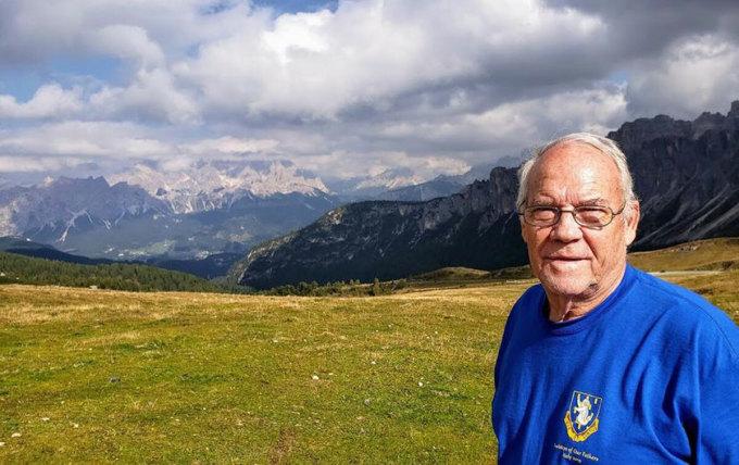 Howard trong chuyến du lịch đếnCortina d'Ampezzo, Italy. Ảnh: Croatia Week.