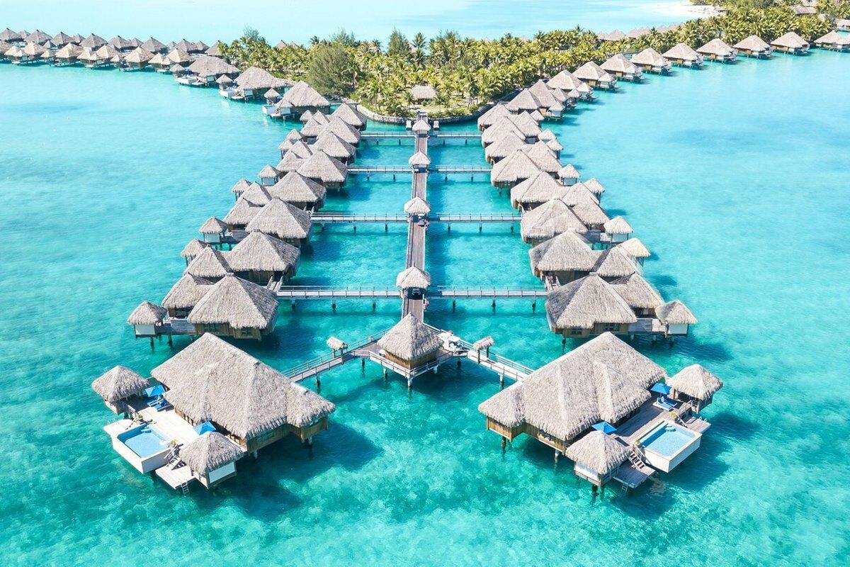 Khung cảnh thiên đường ở đảo Bora Bora. Ảnh: Marriott Hotels.