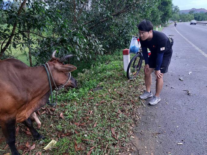 Chuyến đi xuyên Việt là một trải nghiệm đáng nhớ nhất tại Việt Nam của cậu. Ảnh: NVCC.