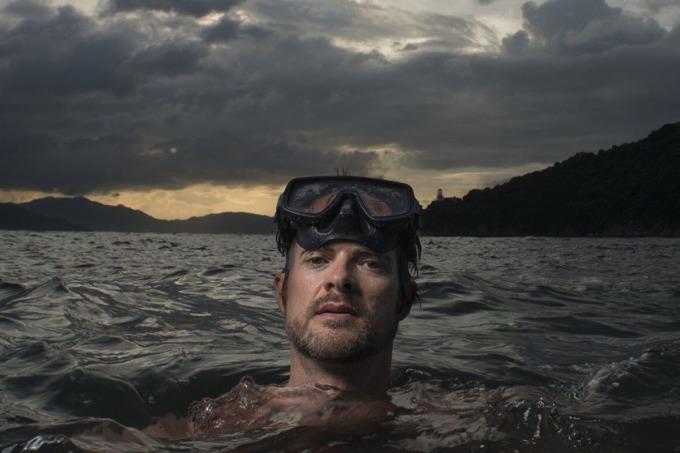 Tiến sĩAndy Cornish nói rằng ông chưa nắm được một báo cáo nào đáng tin về cá mập lớn ở đây suốt 10 năm qua. Ảnh:Antony Dickson.