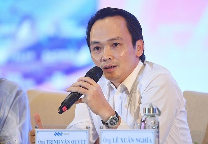 Ông Trịnh Văn Quyết,Chủ tịch Tập đoàn FLC phát biểu tại tọa đàm.