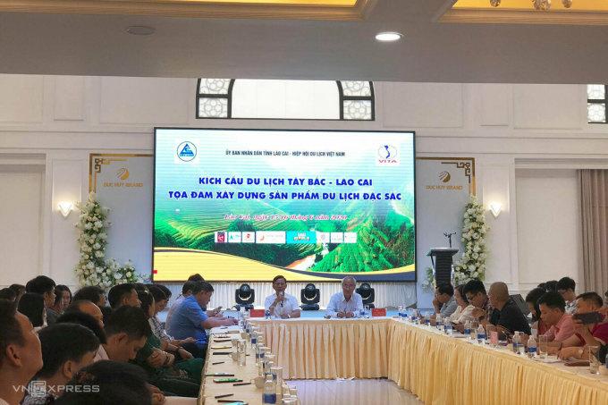 Toàn cảnh Hội nghị kích cầu du lịch Tây Bắc - Lào Cai. Ảnh: Ngân Dương.