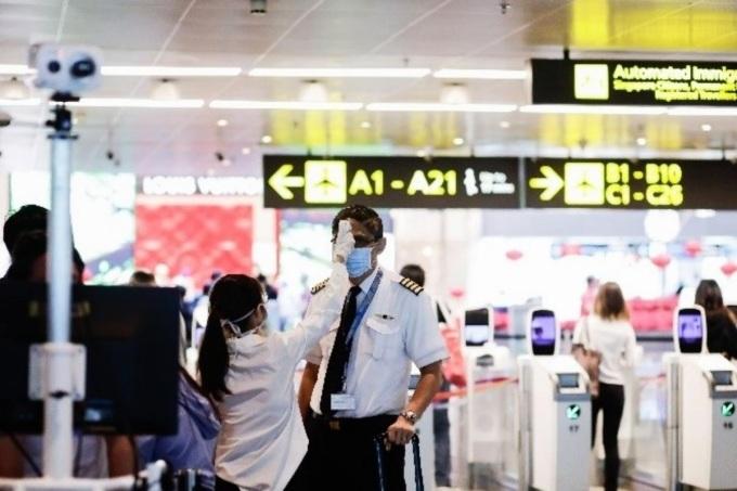 Sân bay Changi dần nhộn nhịp hơn khi bong bóng du lịch được triển khai. Ảnh: Changi.