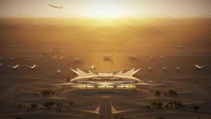 Sân bay dự kiến khánh thành vào năm 2023. Ảnh: CNN.