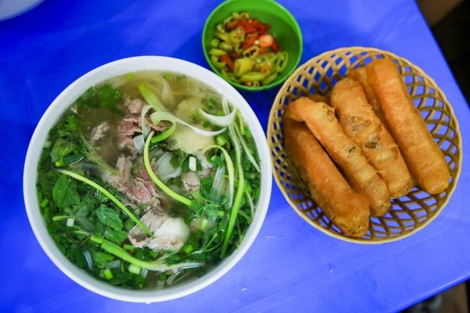 Bát phở bò truyền thống Hà Nội.