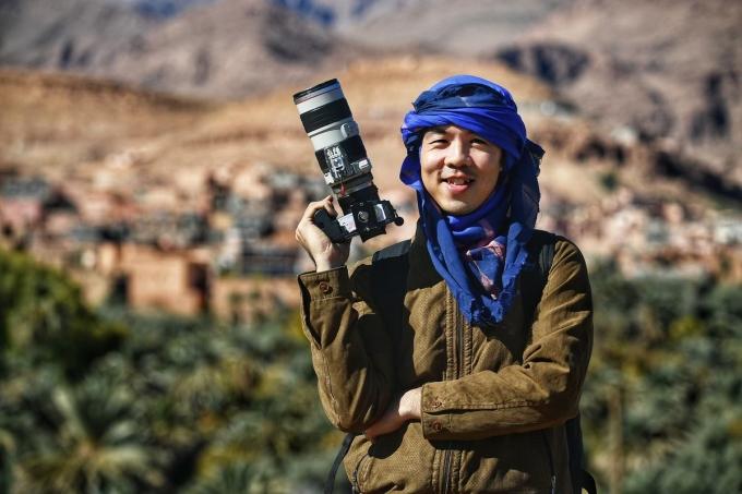 Ngô Trần Hải An (1981), phóng viên ảnh, chính thức gia nhập làng phượt với chuyến xuyên Việt bằng xe máy năm 2004. Ảnh: FBNV.