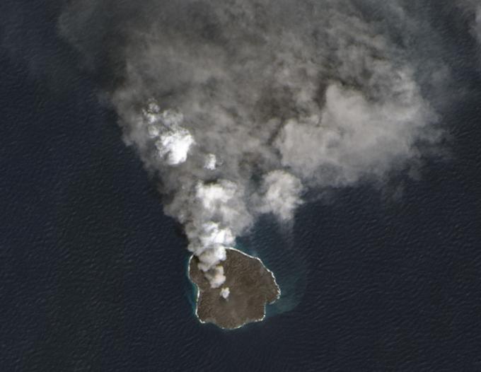The island 'eats' itself