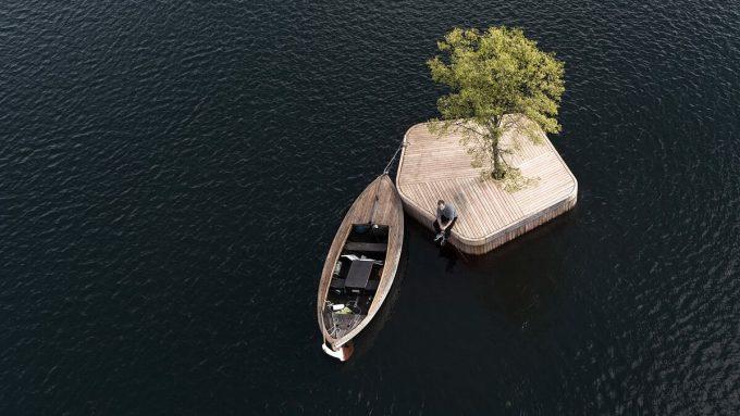 Vật liệu để tạo nên các hòn đảo đều là những vật liệu bền vững. Ảnh: Marshall Blecher/Magnus Maarbjerg.