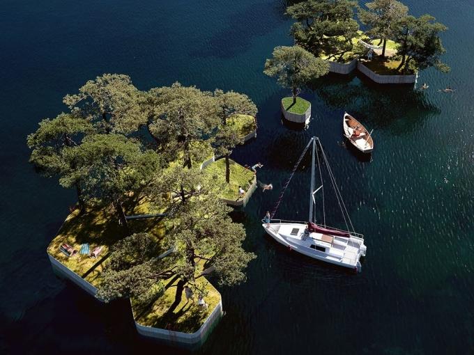 Mọi người có thể lên các đảo - công viên này từ thuyền. Ảnh: Marshall Blecher/Magnus Maarbjerg.