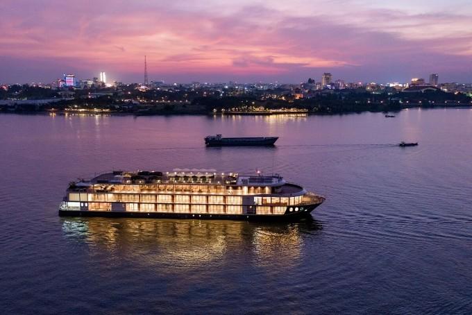 Du thuyền Victoria Mekong trên sông Cửu Long.