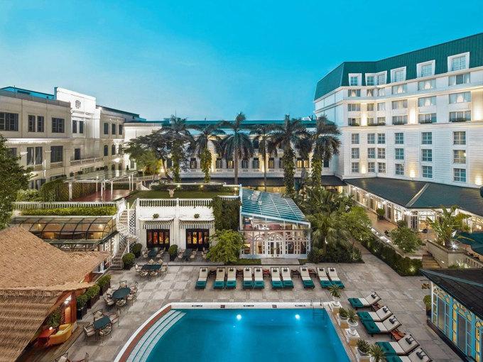 Không gian nhà hàng tại khách sạn InterContinental Hanoi Landmark72. Ảnh: InterContinental Hanoi