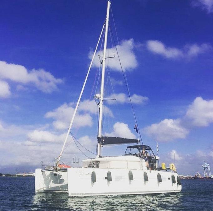 Chiếc thuyền mà Pip đã đi khắp thế giới cùng gia đình chủ, và cập cảng trên đảo Hilton Head. Ảnh: Instagram
