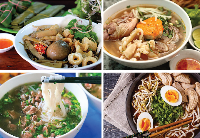 Vietnam - The country owns the most strand and broth dishes in the world.(There are 164 dishes and being continually updated)