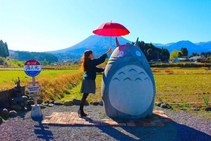Nhờ tình yêu thương dành cho cháu nhỏ và tầm nhìn của cặp vợ chồng già này, những người hâm mộ Totoro có thêm một điểm dừng chân khác tại Takaharu để ngắm cảnh và hoài niệm bộ phim kinh điển của Studio Ghibli. Ảnh: @ayutarou0717/Instagram