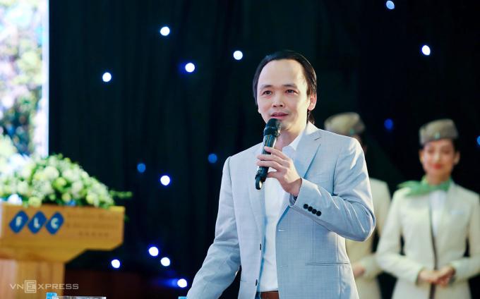 Ông Trịnh Văn Quyết phát biểu tại sự kiện.