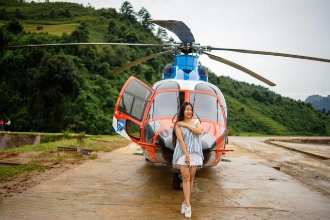 Loại trực thăng khai thác ở Mù Cang Chải là dòng máy bay EC 155B1 được nhập khẩu nguyên chiếc từ Mỹ.