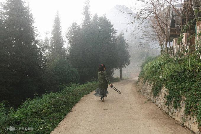 Đi bộ trong màn sương