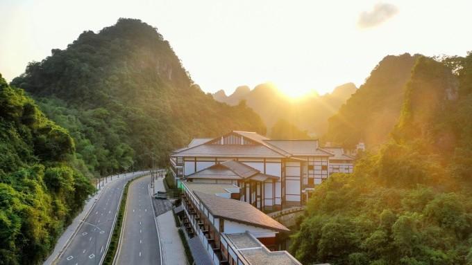 Khu nghỉ dưỡng Yoko Onsen Quang Hanh tại Cẩm Phả, Quảng Ninh. Ảnh: Sun Group.