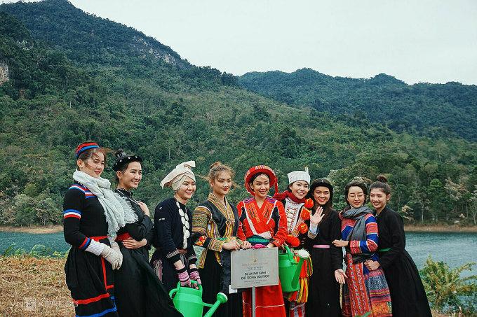 The beauties come from many provinces such as Hanoi, City.  HCM, Dak Nong, Dak Lak, Khanh Hoa, Kien Giang, ... Photo: Ngan Duong