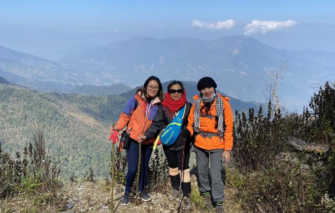 Đỉnh núi Pù Xai Lai Leng cao 2.720 m. Ảnh: Sở Du lịch.