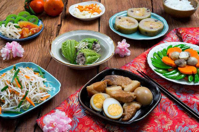 Các món ăn ngày Tết miền Nam. Ảnh: Shutterstock