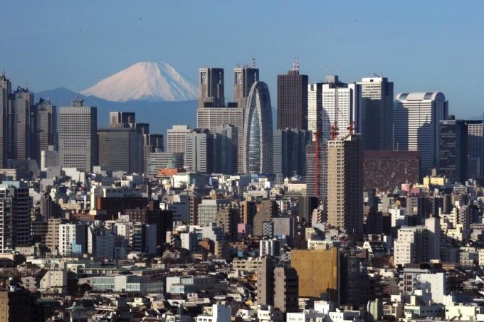 Núi Phú Sĩ trong một ngày quang mây. Ảnh: Kazuhiro Nogi/AFP.