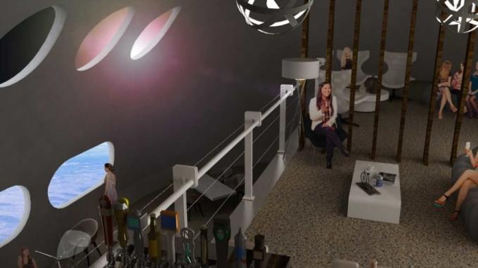 Kiến trúc sư của bản thiết kế, Tim Alatorre nói rằng mình và các cộng sự muốn đưa lên vũ trụ một khách sạn với các dãy phòng ấm áp, các quán bar, nhà hàng sang trọng. Du khách có thể vừa ngắm nhìn không gian vũ trụ, vẫn có thể sử dụng giường êm ái, vòi sen như thông thường. Du khách thuê phòng cũng được phục vụ các món ăn không gian truyền thống như kem khô đông lạnh trong nhà hàng của khách sạn.