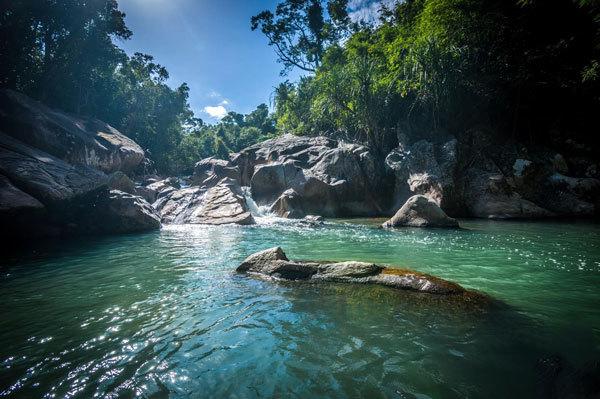 Wild natural scenery at Ba Ho.  (Photo: Ba Ho Waterfall Nha Trang)