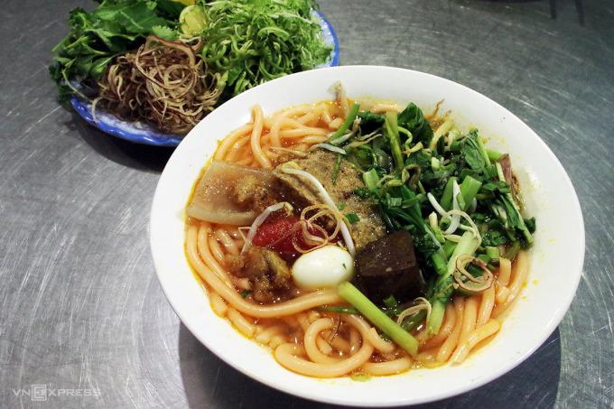 Red noodle soup