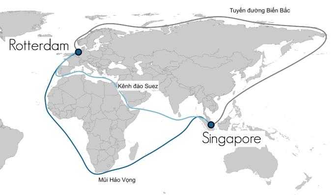 Đường vòng qua Mũi Hảo Vọng dài hơn đường qua kênh đào Suez, tàu thuyền còn có nguy cơ gặp cướp biển. Ảnh: SeaNews Turkey