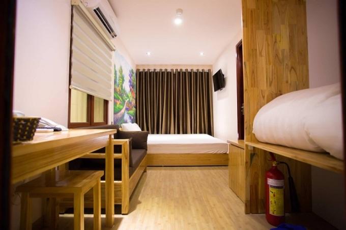 Phòng nghỉ dành cho cặp đôi tại homestay. Ảnh: Homestay T&N