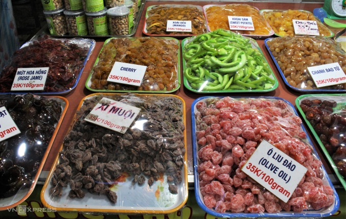 Although not as special as other specialties of Phu Quoc, fruit jams also appear a lot in Phu Quoc night market, this type is often sold for the same price of 35,000 VND / 100 grams.