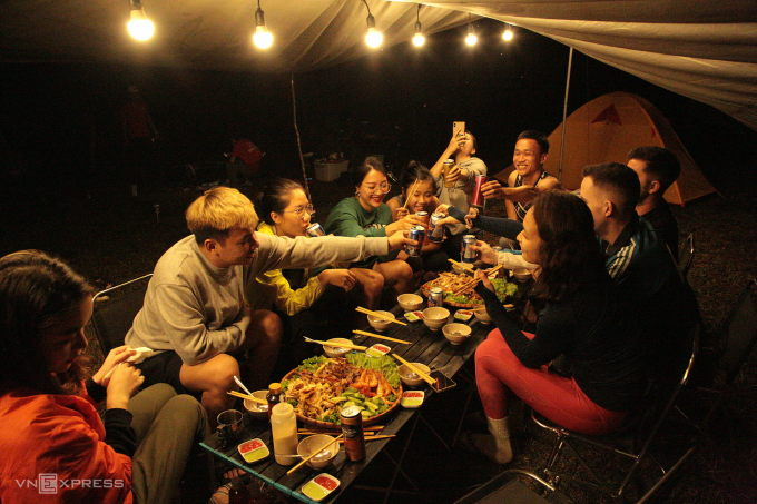 Camping site in Bidoup Nui Ba National Park.  Photo: Thanh Hang