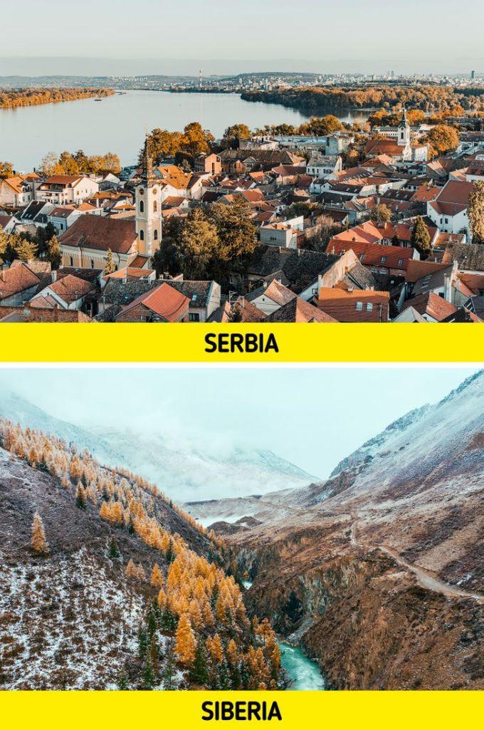 Nhiều người đã bị nhầm lẫn giữa hai vùng đất: Serbia (một quốc gia thuộc vùng Bakal) và Siberia (vùng đất rộng lớn thuộc Nga, có diện tích xấp xỉ Canada). Ảnh: Bright Side