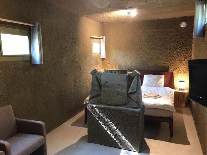 Năm nay, du khách có thể trải nghiệm ngủ trong căn phòng Airbnb bằng cát của khách sạn giữa rừng tại tỉnh Noord-Brabant, Hà Lan. Phòng có giá chỉ 79 USD/đêm cho hai người, với đầy đủ tiện nghi từ TV, máy giặt, Wi-Fi... và đặc biệt còn có một bãi biển gần đó. Ảnh: Zand Hotel