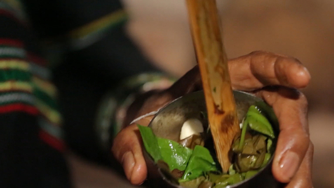 Soup is usually cooked in bamboo tubes.  Photo: Thu Hien