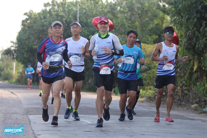 Runner tham dự giải chạy VM Quy Nhơn 2020. Ảnh: VnExpress Marathon.