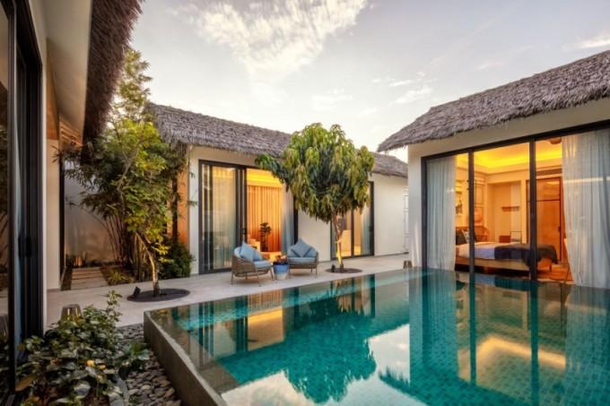 Kiến trúc mang hơi hướng truyền thống tại New World Phu Quoc Resort.