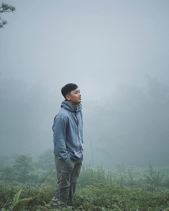 Thời tiết mát mẻ là điều Duy yêu thích ở Đà Lạt.
