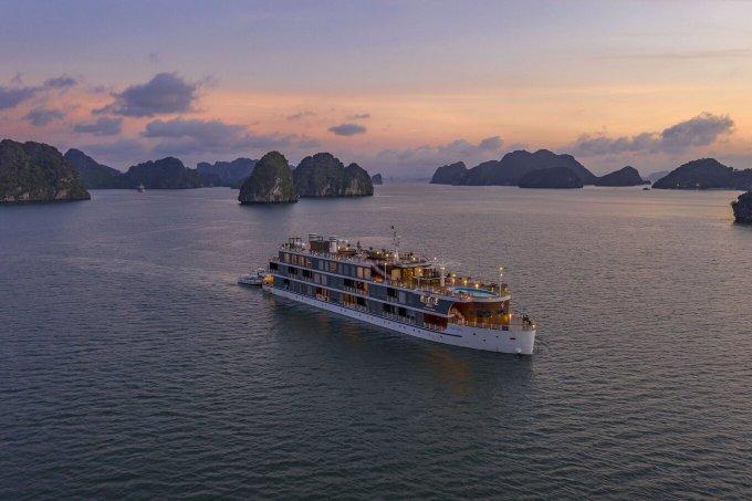 Du thuyền nghỉ dưỡng là sản phẩm mới của tập đoàn Lux Group đưa vào hoạt động tại Phú Quốc. Ảnh: LG.