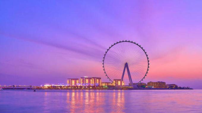 Đu quay nằm trên đảo Bluewaters của Dubai. Ảnh: WSP